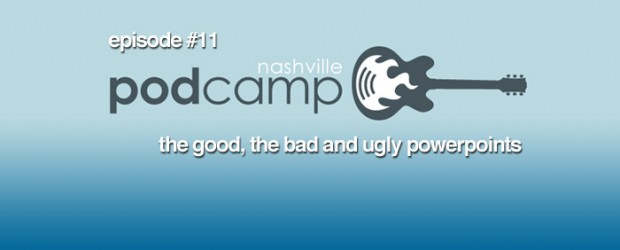 Podcamp Nashville happened March 6, 2010 and in Episode 11 we dissect the event as best we could in under an hour. We begin with Lucas sharing post event numbers and thoughts. Then jump into what worked and what didn't from out perspective. After that we highlight what sessions stood out from the pack and get sidetracked on how to document the event. Should presenters be responsible for recording their sessions or should the Nashville video community step up and help? Finally we end with our usual segment of what we are consuming. Go to http://www.NashvilleFeed.com/ for show notes and to listen.